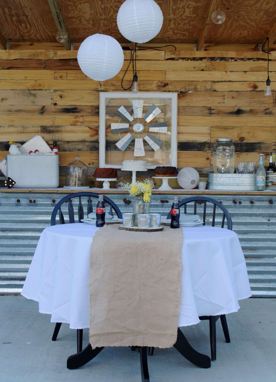 Sweetheart Table, Rustic Wedding Table, Barn Wedding, Vintage, Oriental Trading Co., Reception, DIY, Marry Me