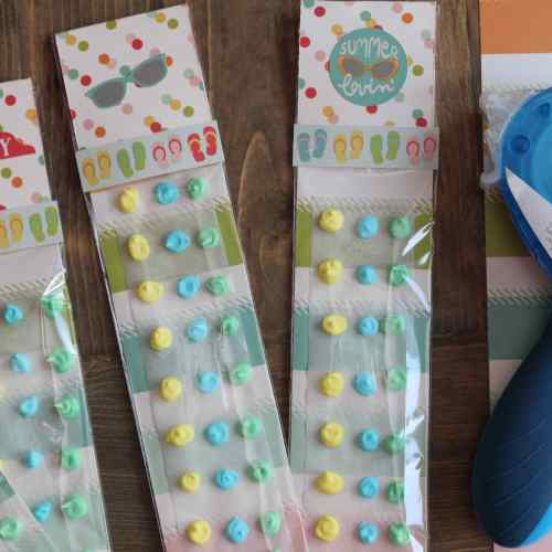 Summer Party Favor, Party Favor, Simple Stories, Xyron, Everyday Party Magazine