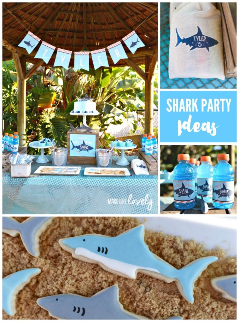 Shark Week, Kids Party, Kids Parties, Beach Party, Pool Party, Shark Week Party Round Up