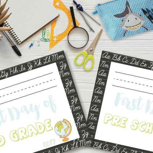 Free Printables, Free Printable, Freebies, Freebie, back to school, First Day of School Sign