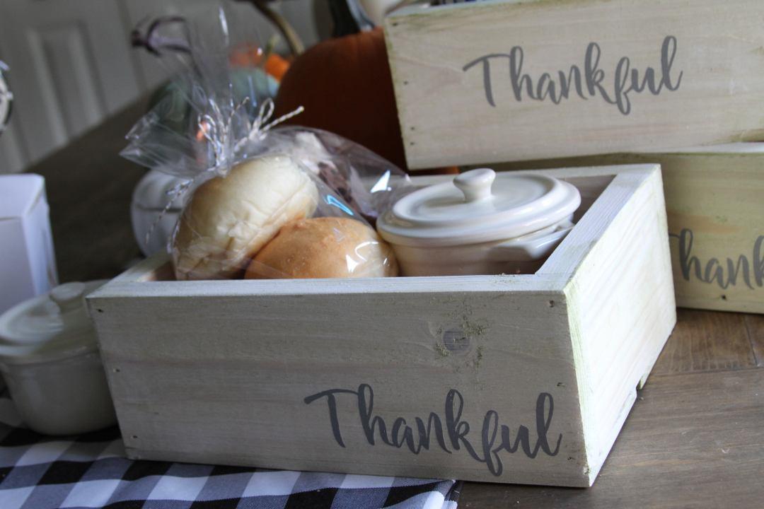Everyday Party Magazine Thankful Thanksgiving Leftover Box DIY