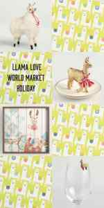 Llama Love World Market Holiday