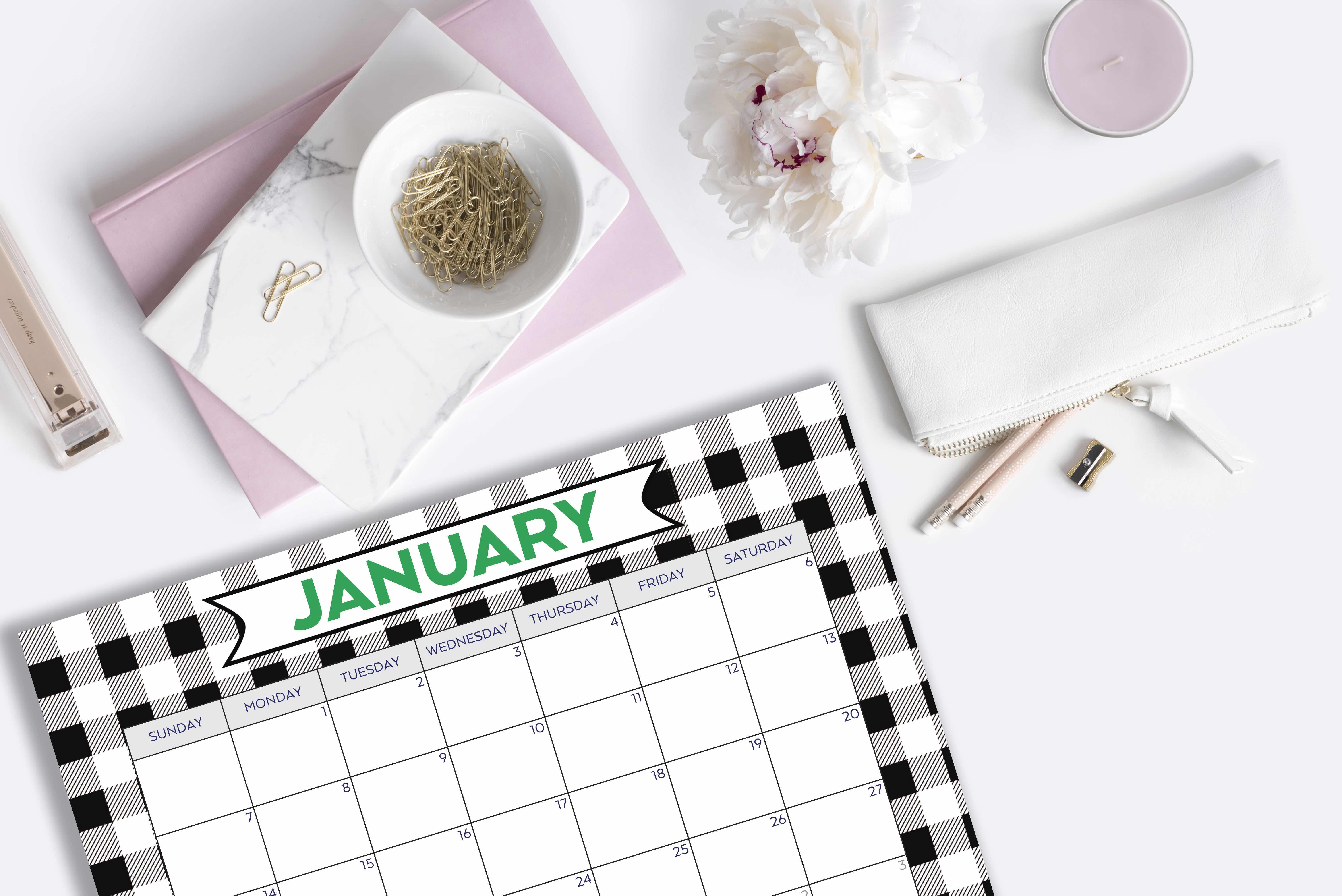 Everyday Party Magazine Free Printable Calendar 2018