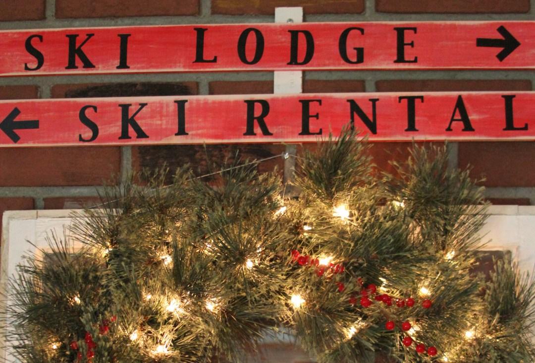 Everyday Party Magazine Ski Lodge Holiday Mantel