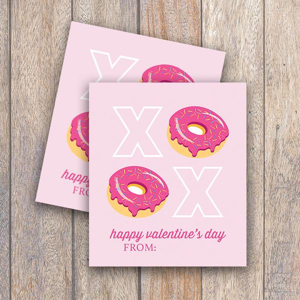 photo regarding Donut Valentine Printable known as Donut XOXO Mini Valentine Printable Card - Day-to-day Social gathering Journal