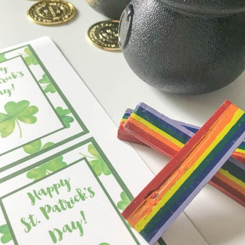 Everyday Party Magazine Happy St. Patrick's Day Printable Tag #StPatricksDay #Rainbow #StPats