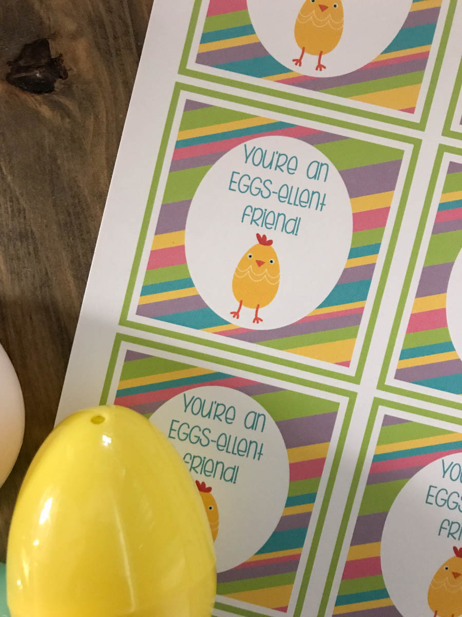 Everyday Party Magazine Eggs-ellent Friend Printable Tags #Easter #Punny #Treat