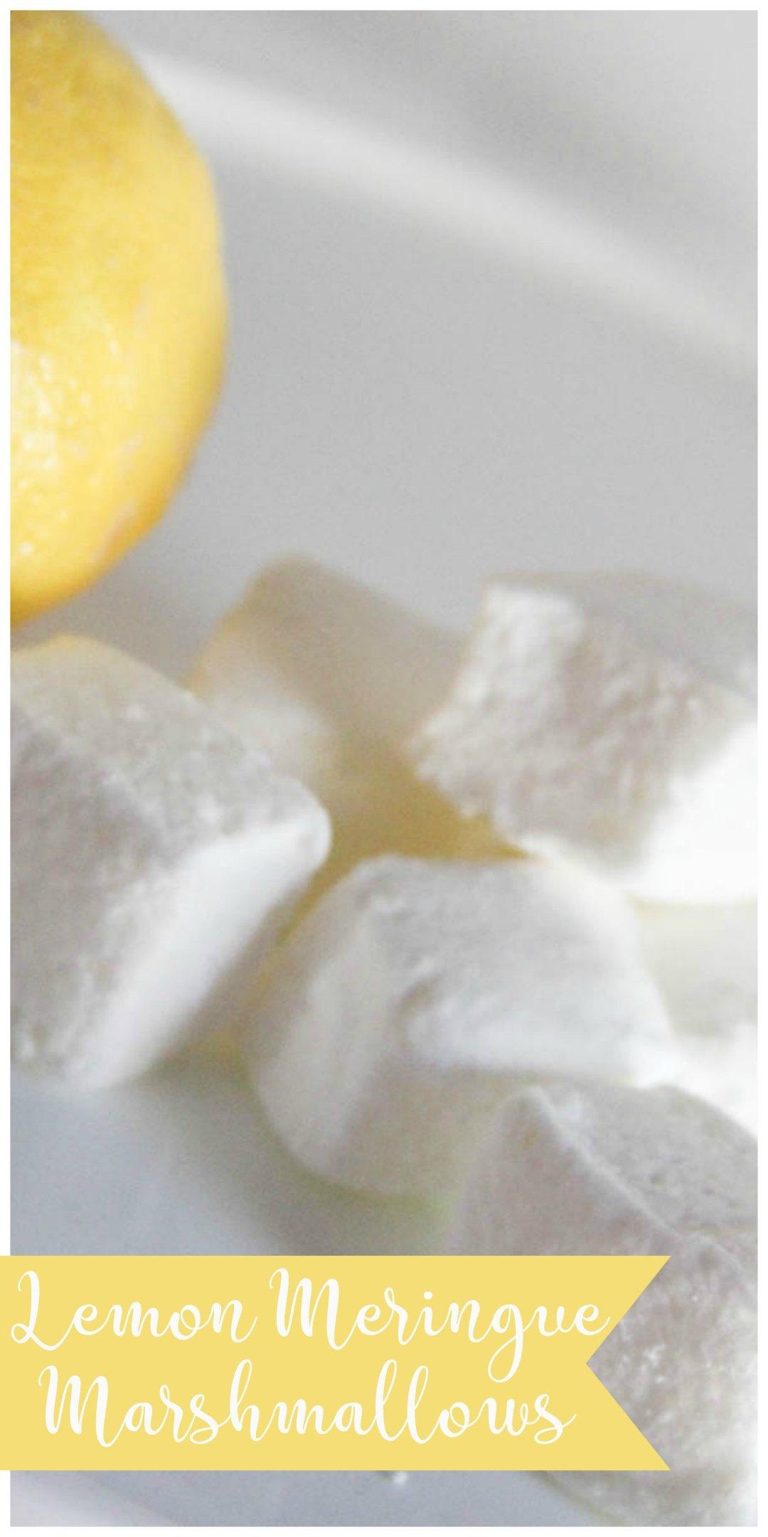Everyday Party Magazine Lemon Meringue Marshmallows #Marshmallow #LemonMeringue #Recipe