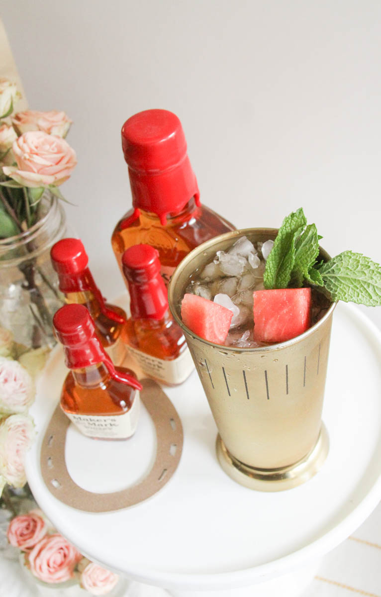 Everyday Party Magazine Watermelon Mint Julep Recipe #MintJulep #DerbyParty #WatermelonMint #Bourbon #Recipe