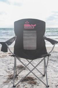Everyday Party Magazine DIY Camp Chair #CricutMade #CampChair #DIY #VineyardVines #mongram