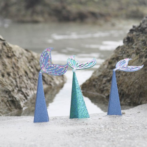 Everyday Party Magazine Mermaid Tail Favor Boxes #CricutMade #CricutMaker #CricutScoringWheel #Mermaid