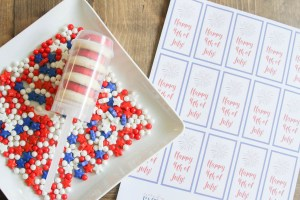 Everyday Party Magazine Patriotic Push Pops #FourthOfJuly #DIY #Treats #PushPops