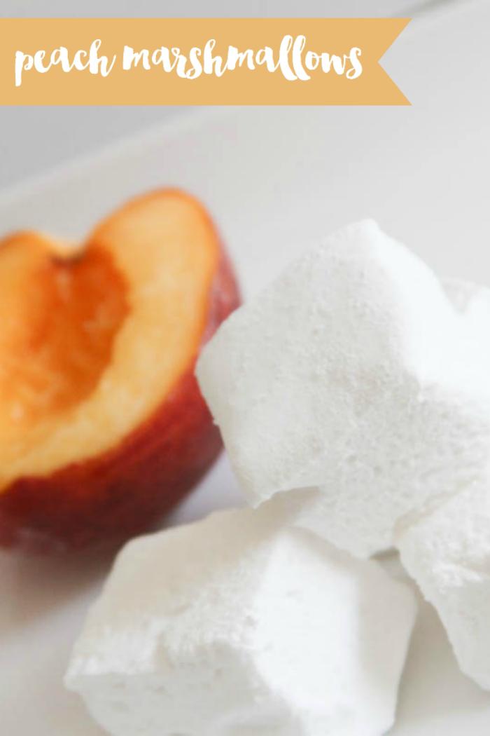Everyday Party Magazine Peach Marshmallows #PeachRecipes #Peaches #MarshmallowRecipe #AltonBrown