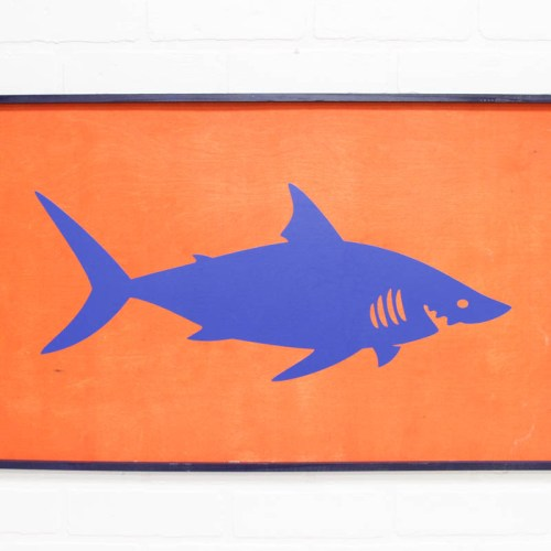 Everyday Party Magazine Shark Week Party Sign #SharkWeek #CricutMade #Cricut #DIY