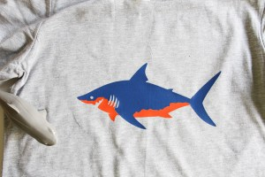 Everyday Party Magazine Shark Week Shirt DIY #SharkWeek #SharkShirt #CricutMade #DIY #Shirts