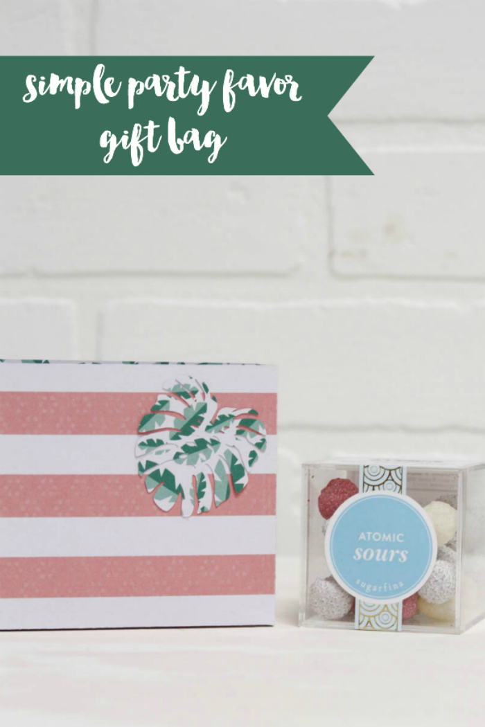 Everyday Party Magazine Simple Party Favor Gift Bag Idea #Xyron #PartyFavor #GiftBag #DIY