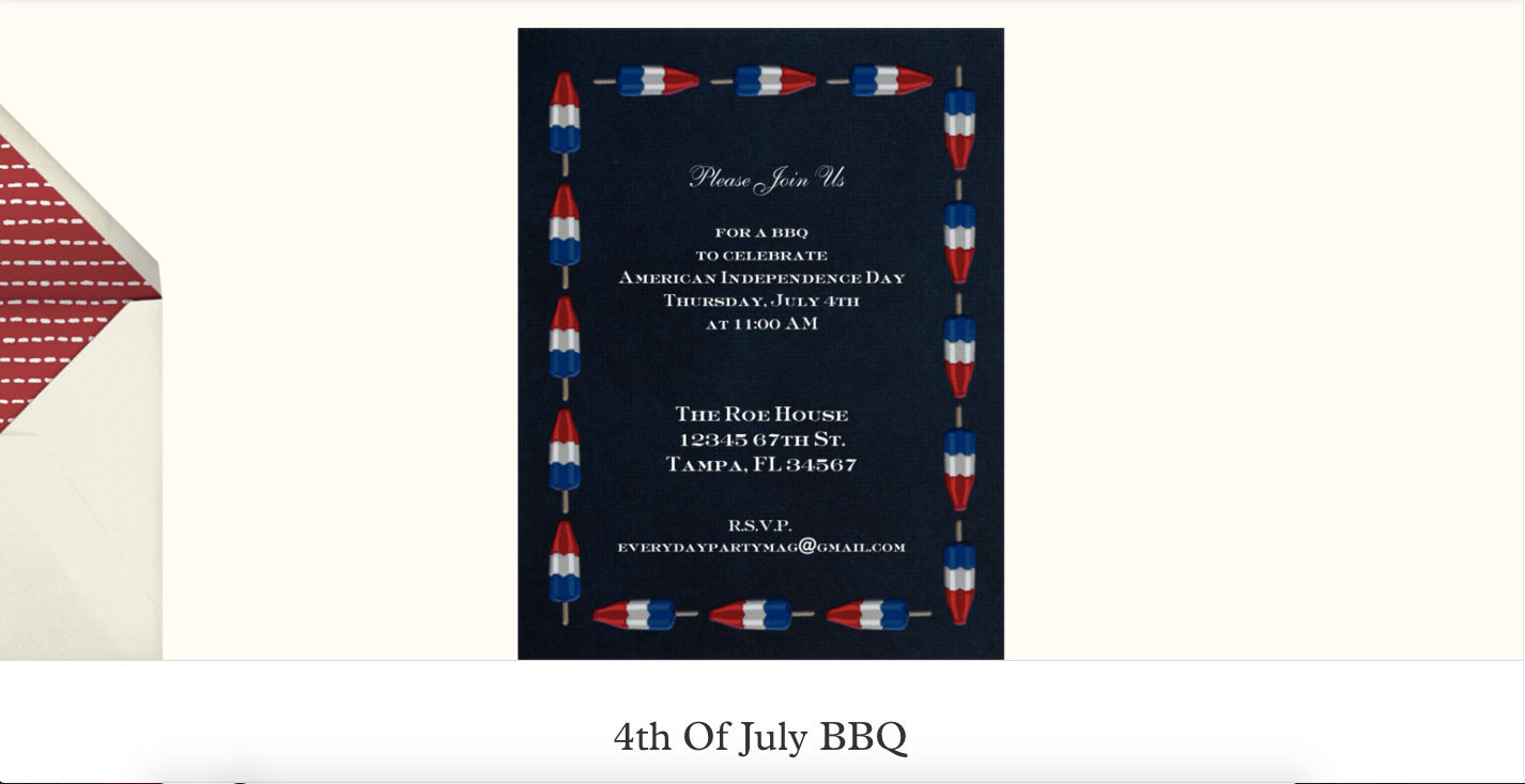 Everyday Party Magazine Simple Party Invitations #PaperlessPost #PartyInvitations #4thOfJuly