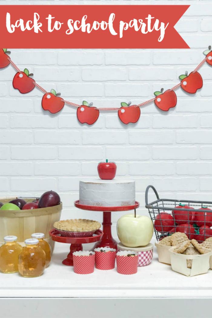 Everyday Party Magazine Back to School Celebration #BackToSchool #AppleParty #FallParty #School