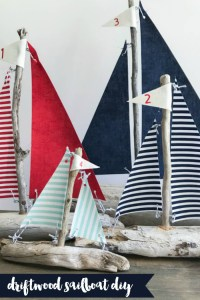 Everyday Party Magazine Driftwood Sailboat DIY #CricutMade #DIY #Driftwood #WeddingDIY