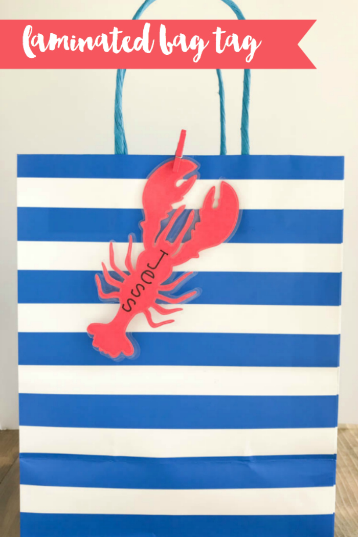 Everyday Party Magazine Laminated Bag Tag DIY #Xyron #Ad #Lobster #Seaside #DIY