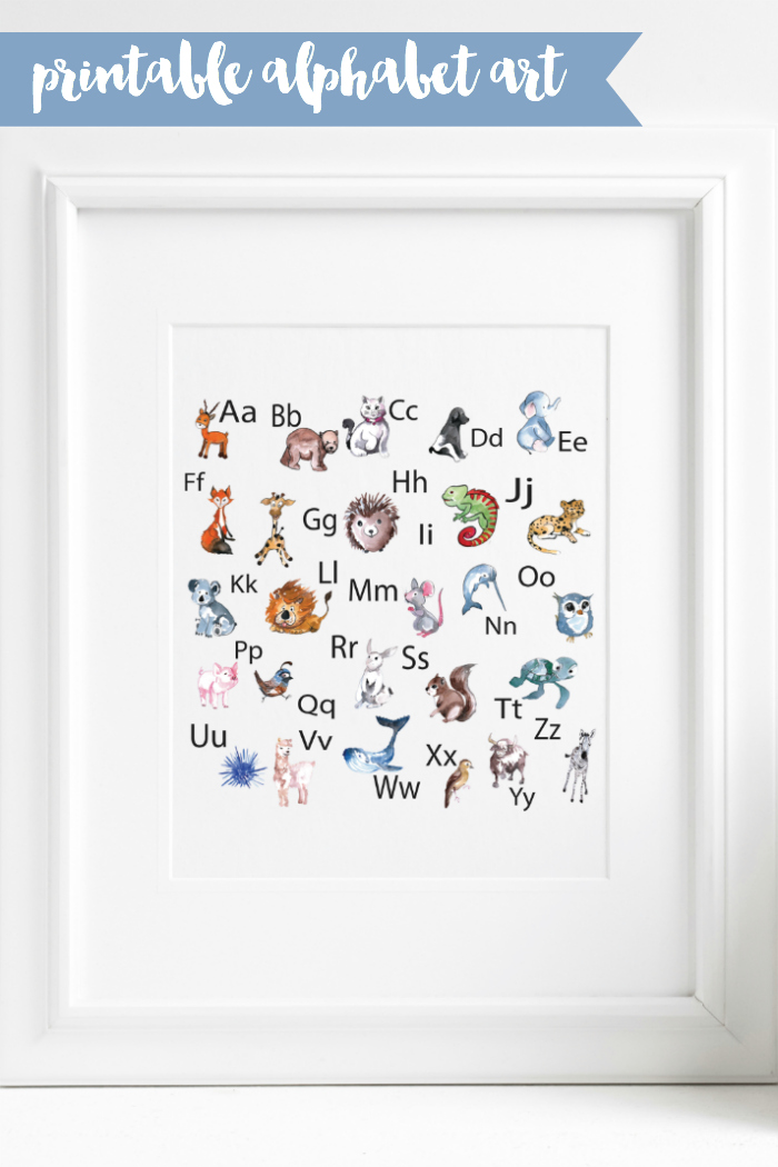 Alphabet Art in Frame