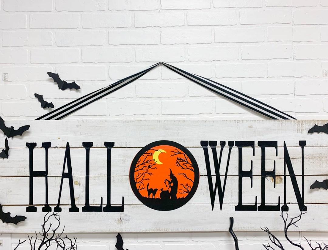 Farmhouse Style Halloween Sign