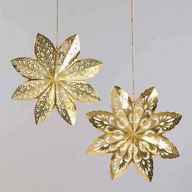 Gold Paper Lanterns