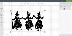 Cricut Design Space Screen Shot Dancing Witches