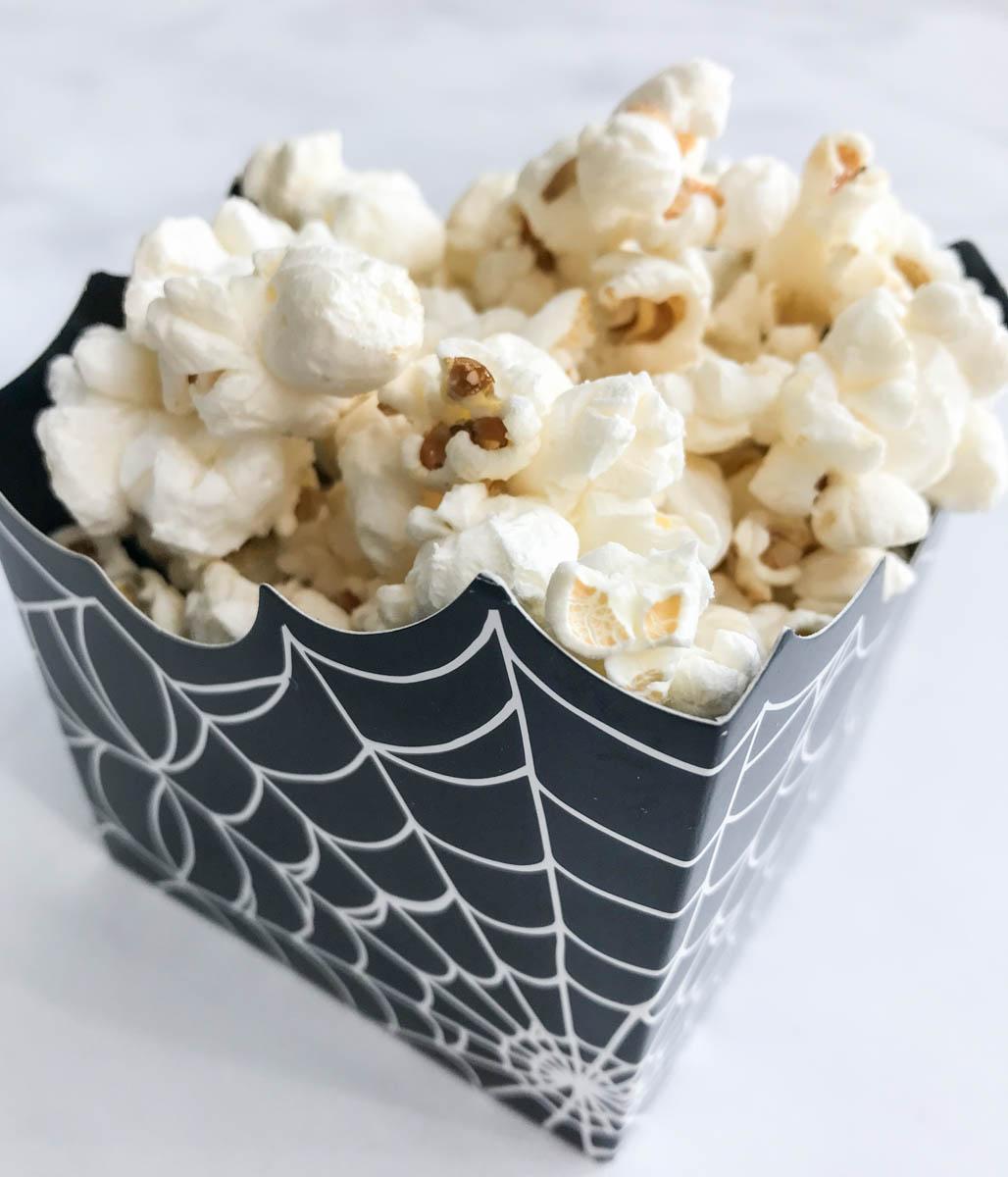Halloween Spider Web Popcorn