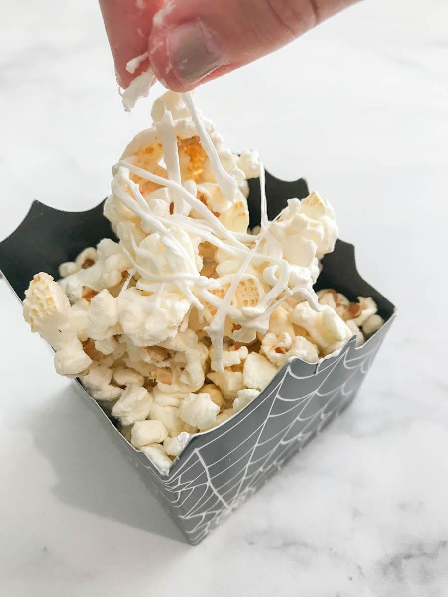 Marshmallow Spider Web Popcorn