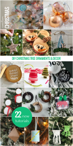 Holiday Ornament Collage