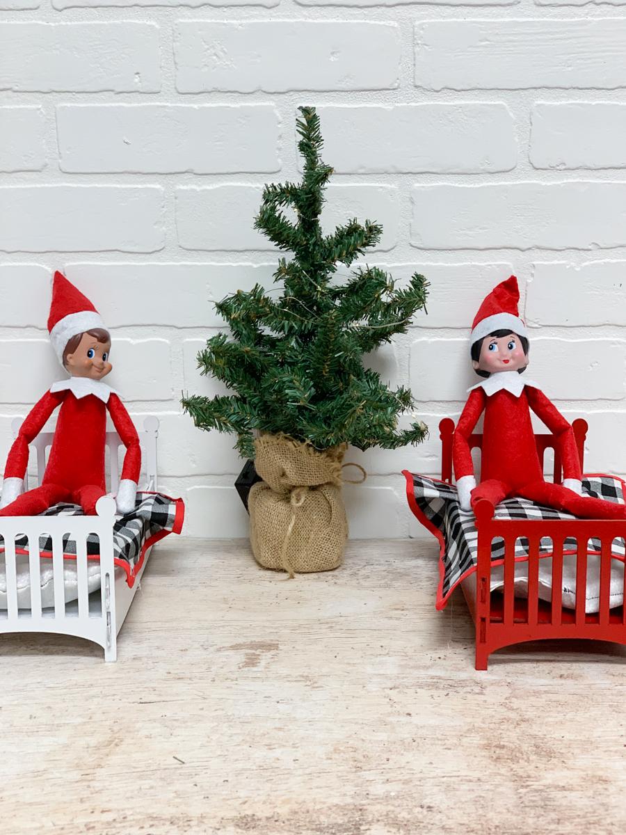Elf on a Shelf Beds Christmas Tree