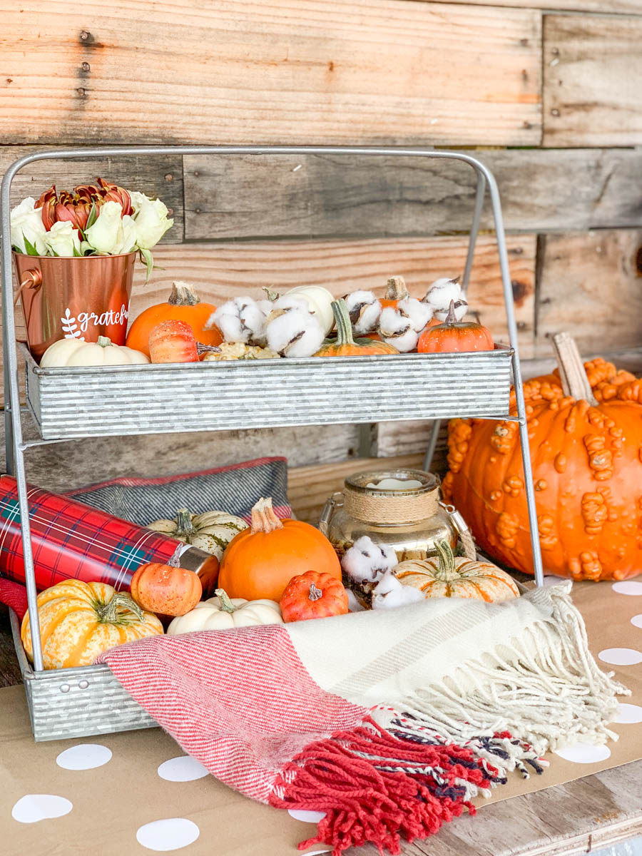 Fall Tiered Tray