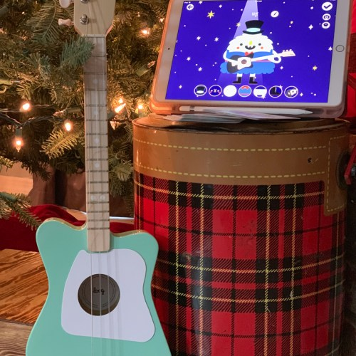 Guitar Christmas Tree Cooler iPad