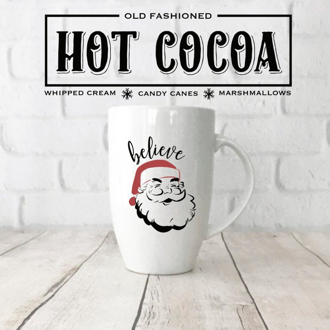 Hot Cocoa Sign Santa Mug