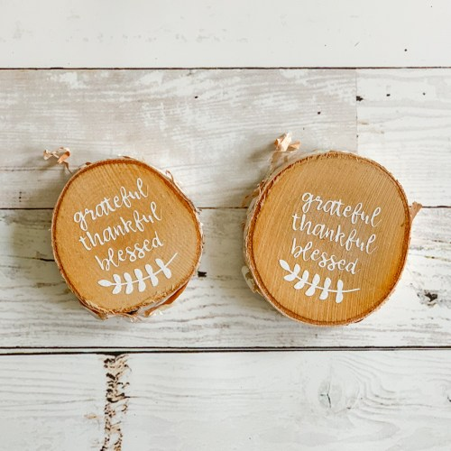 Wood disc ornaments