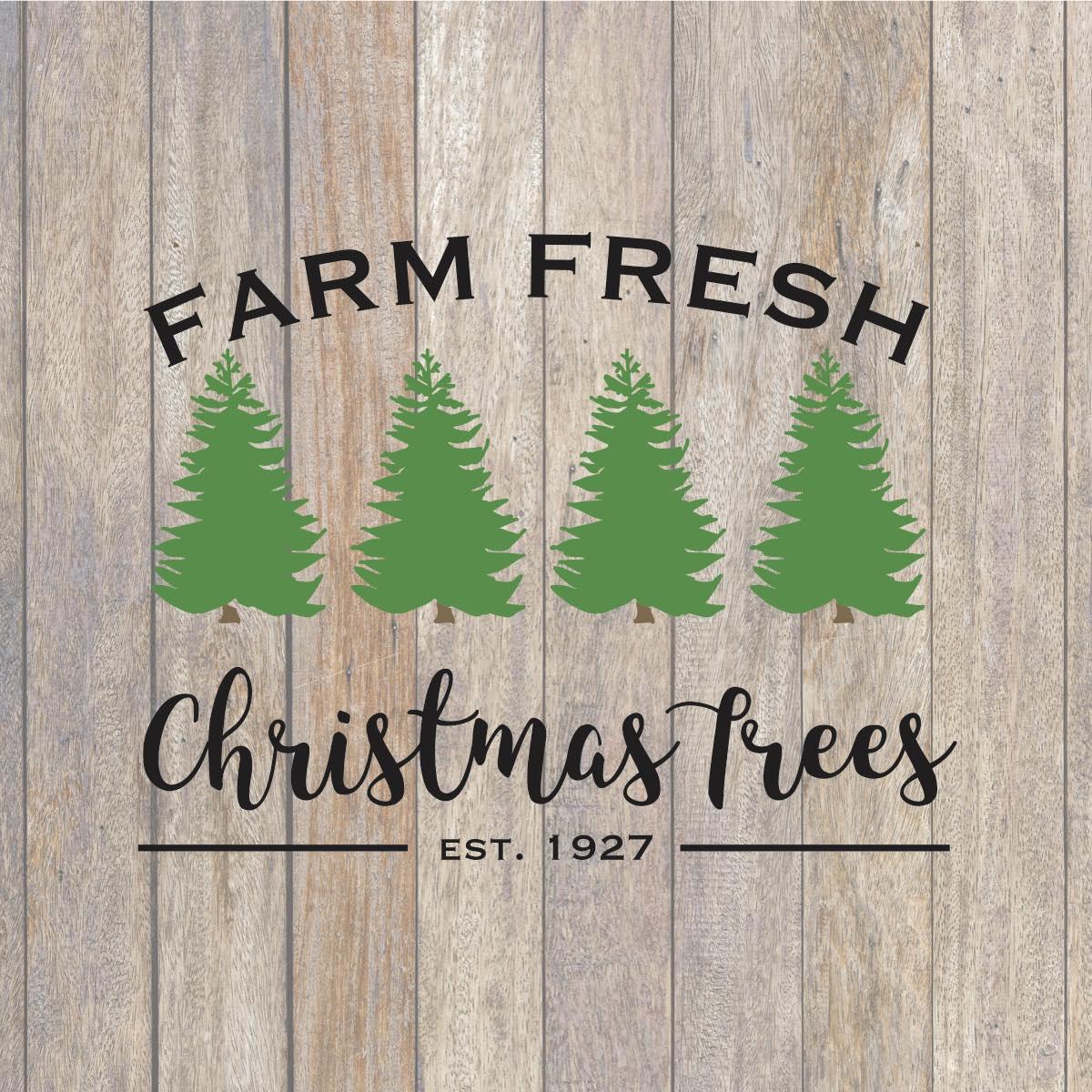 Farm Fresh Christmas Trees Svg.Farm Fresh Christmas Tree Svg Christmas Svg Holiday Svg
