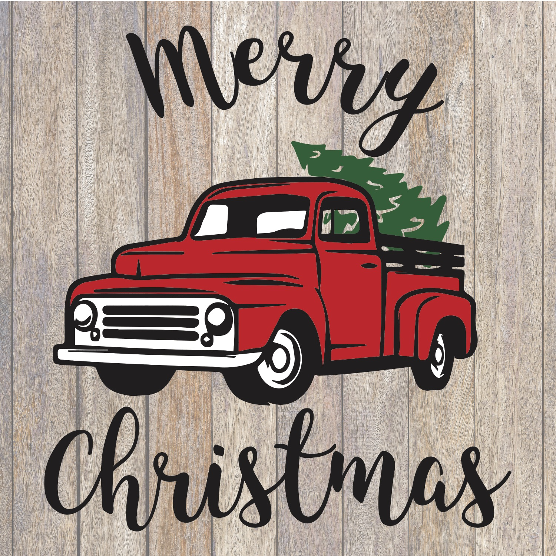 Christmas Truck Svg.Merry Christmas Truck Svg Christmas Svg Holiday Svg