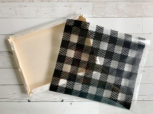 Canvas Buffalo Plaid Iron On