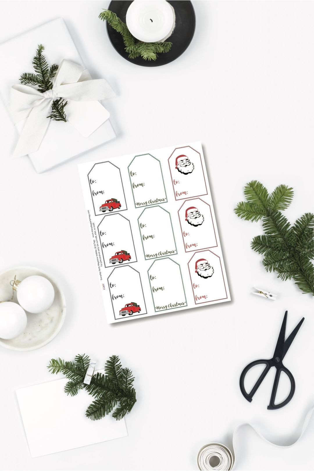 Holiday gifts and tags