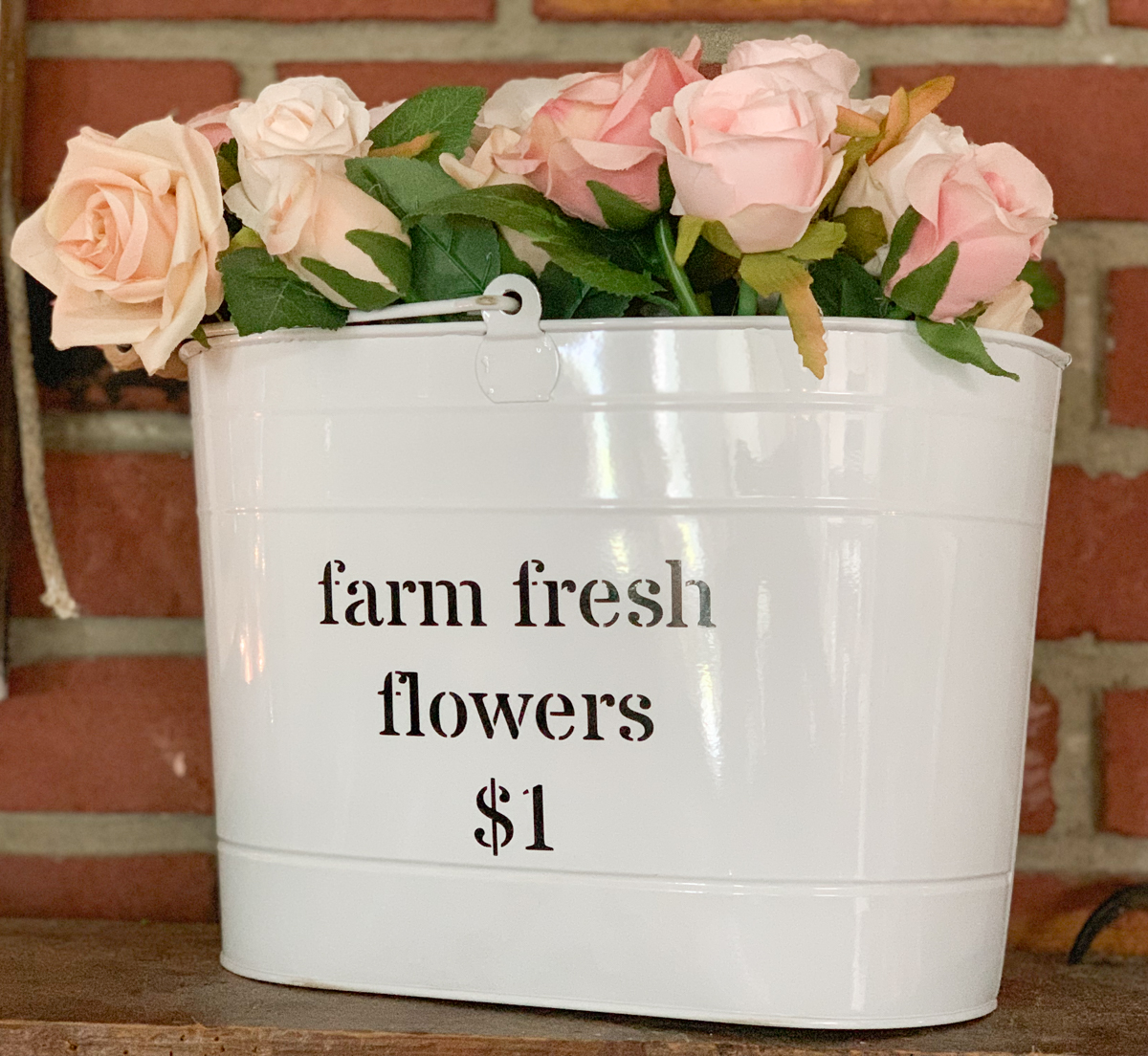Farmhouse Style Flower Bucket