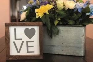Farmhouse Style LOVE Sign