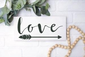 Farmhouse Style Love Arrow Sign