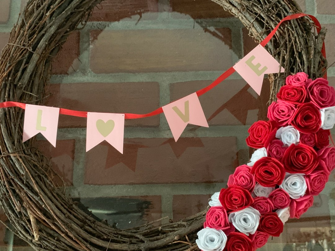 Grapevine Valentine's Day Wreath