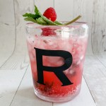 Raspberry Cocktail Monogrammed Glass