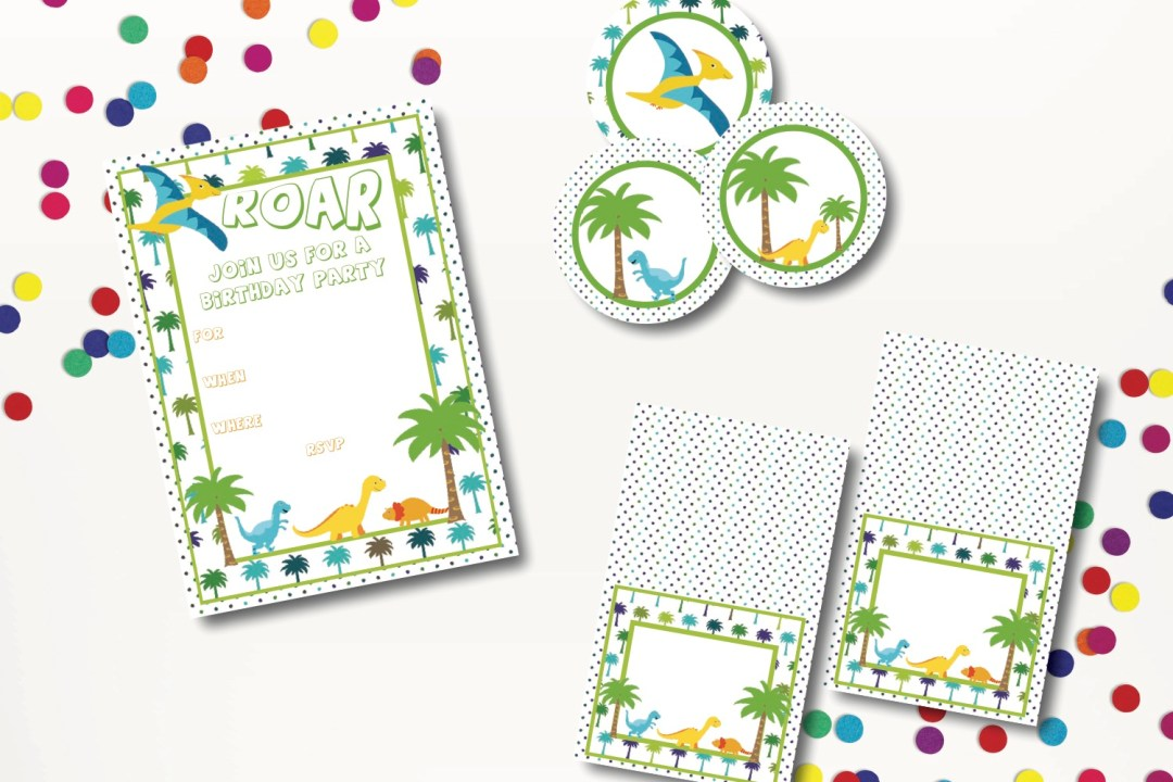 Colorful Dinosaur Party Package