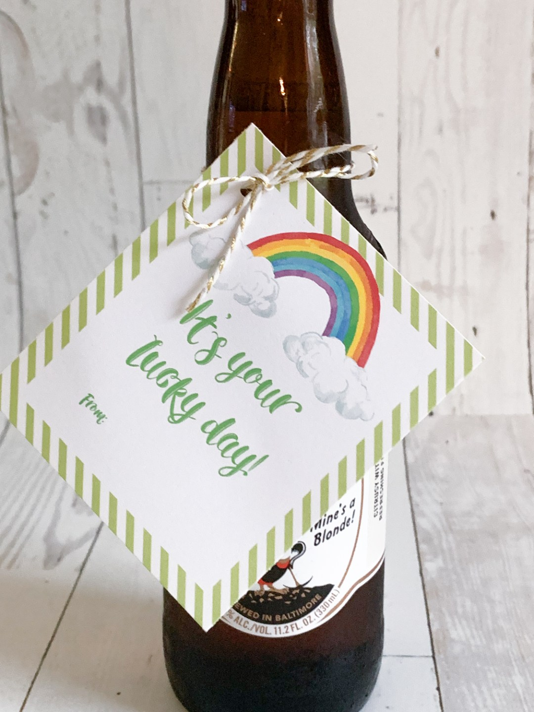 Guinness Beer Lucky Day Printables Tags