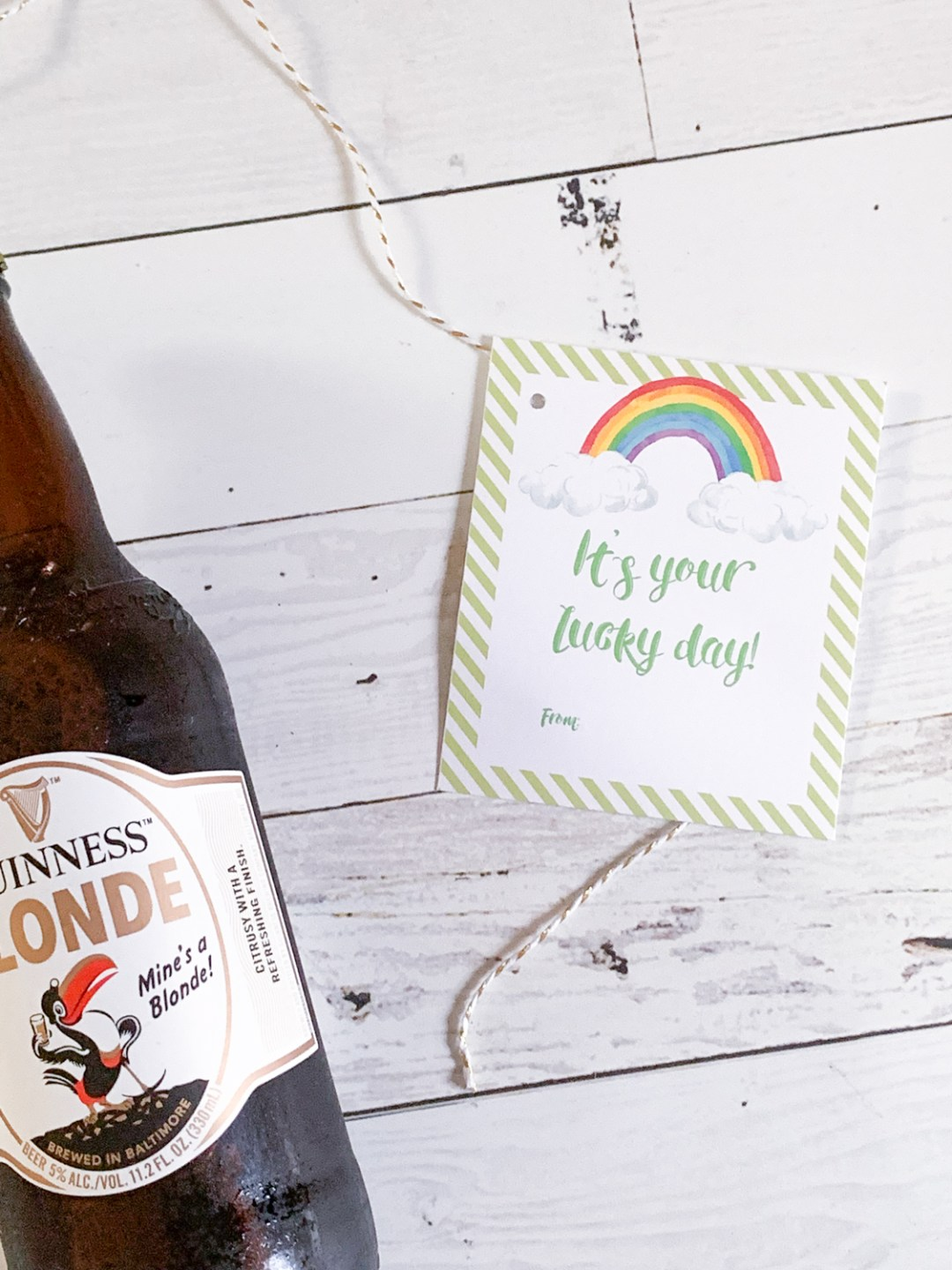 St. Patrick's Day Tags Beer Bottle