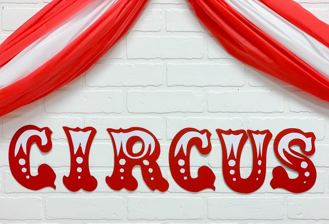 Circus Party Backdrop