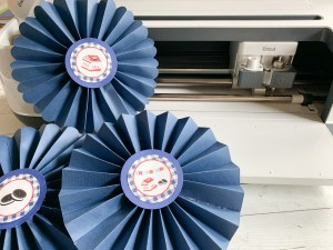 Cricut Maker Blue Paper Rosettes